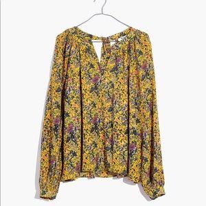 Madewell x Karen Walker Silk Floral Gennaker Top